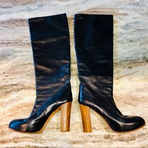 Chloe Tall Black Platform Boots